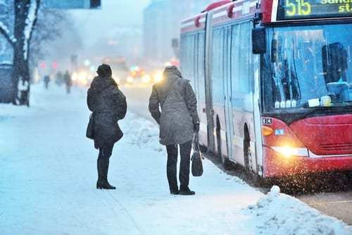 Why is it we need extreme weather combined with commuting chaos