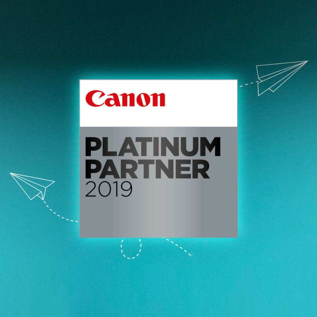 DMC Canotec are recognised as Canon Europe Platinum Partners